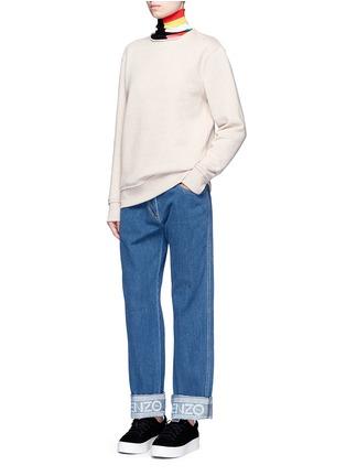 Figure View - Click To Enlarge - KENZO - Logo print waist boyfriend jeans