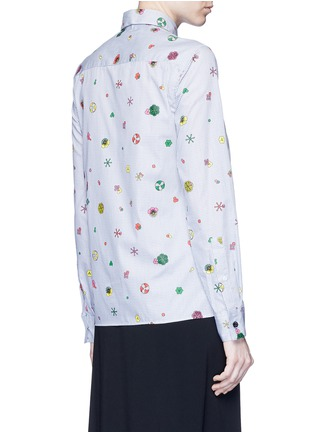 Back View - Click To Enlarge - KENZO - Tanami flower print check poplin shirt