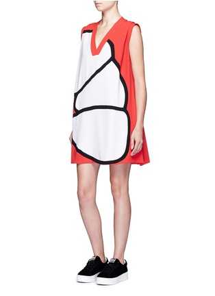 Figure View - Click To Enlarge - KENZO - 'Origami Flower' print shift dress