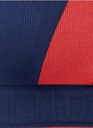 Detail View - Click To Enlarge - LNDR - 'Aero' colourblock circular knit sports bra
