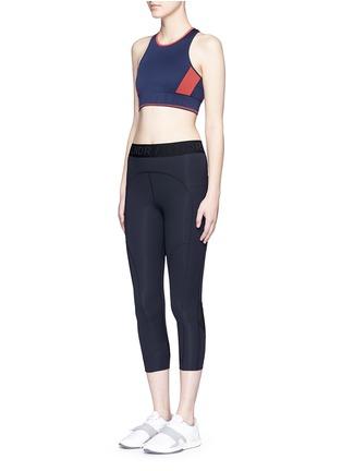 Figure View - Click To Enlarge - LNDR - 'Aero' colourblock circular knit sports bra
