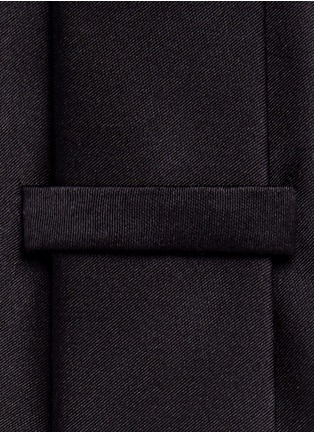 Detail View - Click To Enlarge - Armani Collezioni - Silk satin tie