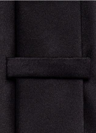 细节 - 点击放大 - ARMANI COLLEZIONI - 单色真丝领带