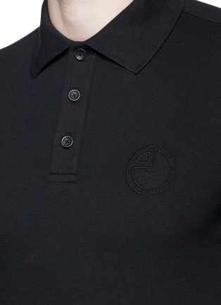 Detail View - Click To Enlarge - Armani Collezioni - Slim fit polo shirt