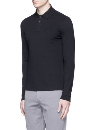 Front View - Click To Enlarge - Armani Collezioni - Slim fit polo shirt