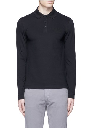Main View - Click To Enlarge - Armani Collezioni - Slim fit polo shirt
