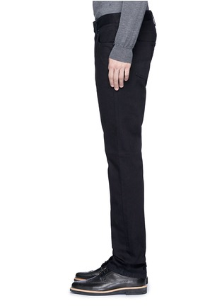 Armani Collezioni - Slim fit solid cotton denim jeans