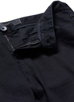 Slim fit solid cotton denim jeans