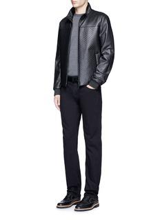 Armani CollezioniSlim fit solid cotton denim jeans