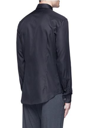 Back View - Click To Enlarge - Armani Collezioni - Slim fit cotton-silk tuxedo shirt