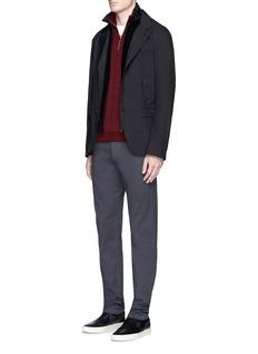 Armani CollezioniDetachable velvet front suit jacket