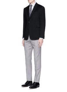 Armani Collezioni'T Line' cashmere flannel blazer