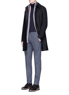 Armani CollezioniWool flannel coat and detachable puffer vest set