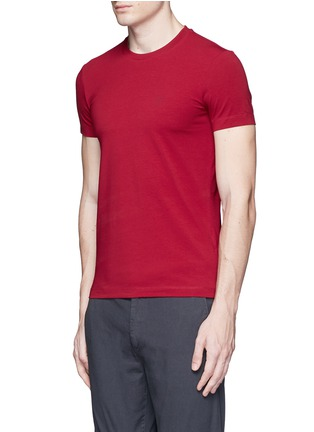 Front View - Click To Enlarge - Armani Collezioni - Slim fit cotton T-shirt