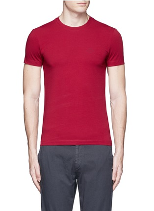 Main View - Click To Enlarge - Armani Collezioni - Slim fit cotton T-shirt