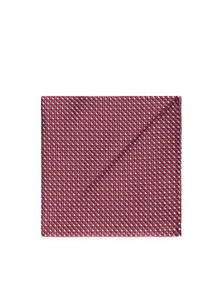 Main View - Click To Enlarge - Armani Collezioni - Diamond jacquard silk pocket square