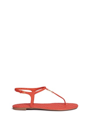 Main View - Click To Enlarge - Tory Burch - 'Marion' quilted leather T-strap sandals