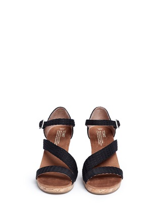 Front View - Click To Enlarge -  - 'Clarissa' cork wedge sandals