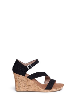 Main View - Click To Enlarge -  - 'Clarissa' cork wedge sandals