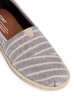 Classic metallic stripe canvas espadrille slip-ons