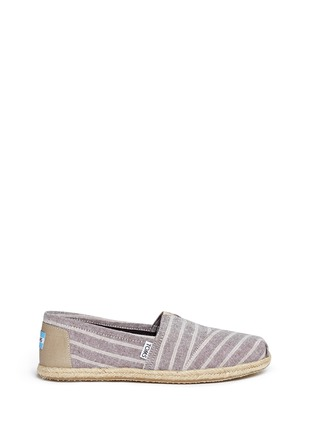 Main View - Click To Enlarge -  - Classic metallic stripe canvas espadrille slip-ons