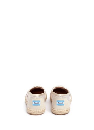 Back View - Click To Enlarge - TOMS - Classic mesh espadrille slip-ons