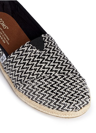 Detail View - Click To Enlarge -  - Classic woven espadrille slip-ons