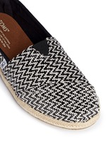 Classic woven espadrille slip-ons