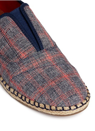 Detail View - Click To Enlarge -  - 'Palmera' plaid espadrille slip-ons