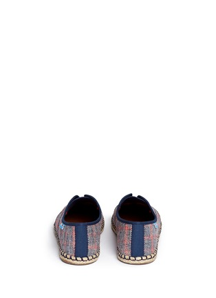 Back View - Click To Enlarge -  - 'Palmera' plaid espadrille slip-ons