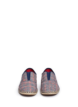 Front View - Click To Enlarge -  - 'Palmera' plaid espadrille slip-ons