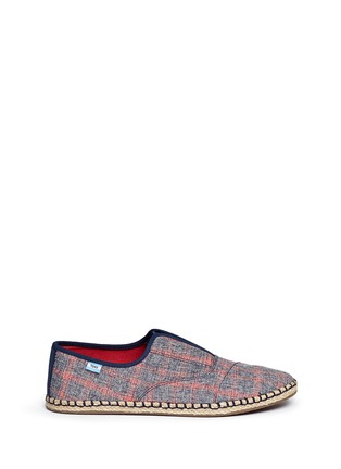 Main View - Click To Enlarge -  - 'Palmera' plaid espadrille slip-ons