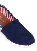 Classic flag print canvas slip-ons
