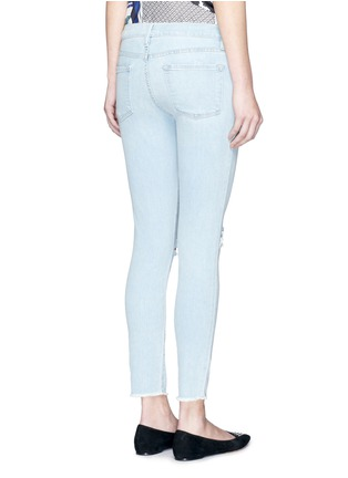 Back View - Click To Enlarge - Frame Denim - 'Le Skinny de Jeanne' distressed knee jeans
