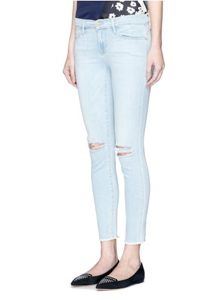 Front View - Click To Enlarge - Frame Denim - 'Le Skinny de Jeanne' distressed knee jeans