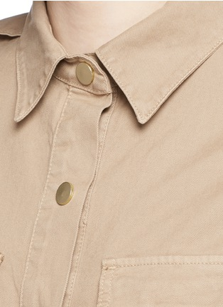 Detail View - Click To Enlarge - Frame Denim - 'Citadel' cotton twill military rompers