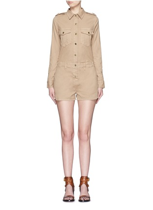 Main View - Click To Enlarge - Frame Denim - 'Citadel' cotton twill military rompers