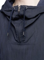 Water resistant cotton blend twill pullover parka