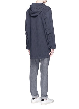 Back View - Click To Enlarge - Paul Smith - Water resistant cotton blend twill pullover parka