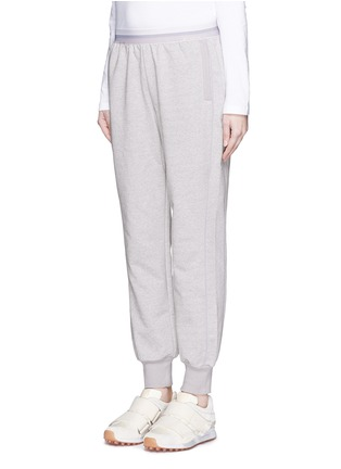 Front View - Click To Enlarge - Adidas By Stella Mccartney - 'ESS' elastic waist organic cotton blend sweatpants