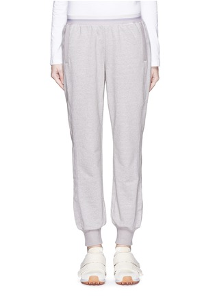 Main View - Click To Enlarge - Adidas By Stella Mccartney - 'ESS' elastic waist organic cotton blend sweatpants