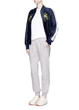 Figure View - Click To Enlarge - Adidas By Stella Mccartney - 'ESS' elastic waist organic cotton blend sweatpants