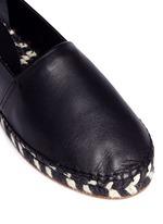 Leather espadrille slip-ons
