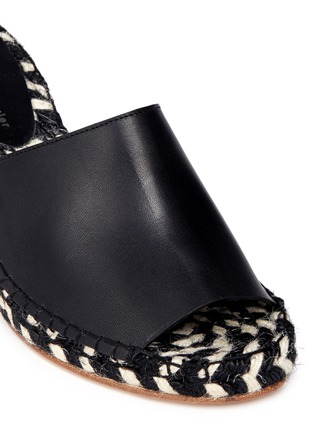 Detail View - Click To Enlarge - Proenza Schouler - Leather espadrille wedge sandals