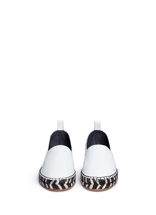 Front View - Click To Enlarge - Proenza Schouler - Leather espadrille slip-ons