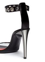 'Grommet' acetate heel leather strap sandals