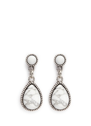 Main View - Click To Enlarge - Philippe Audibert - 'Crees' stone teardrop earrings