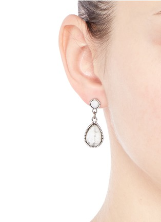 Figure View - Click To Enlarge - Philippe Audibert - 'Crees' stone teardrop earrings