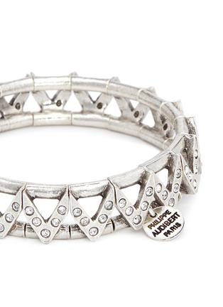 Philippe Audibert-'VIWY' crystal bead cutout elastic bracelet