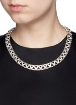 'VIWY' crystal bead cutout necklace